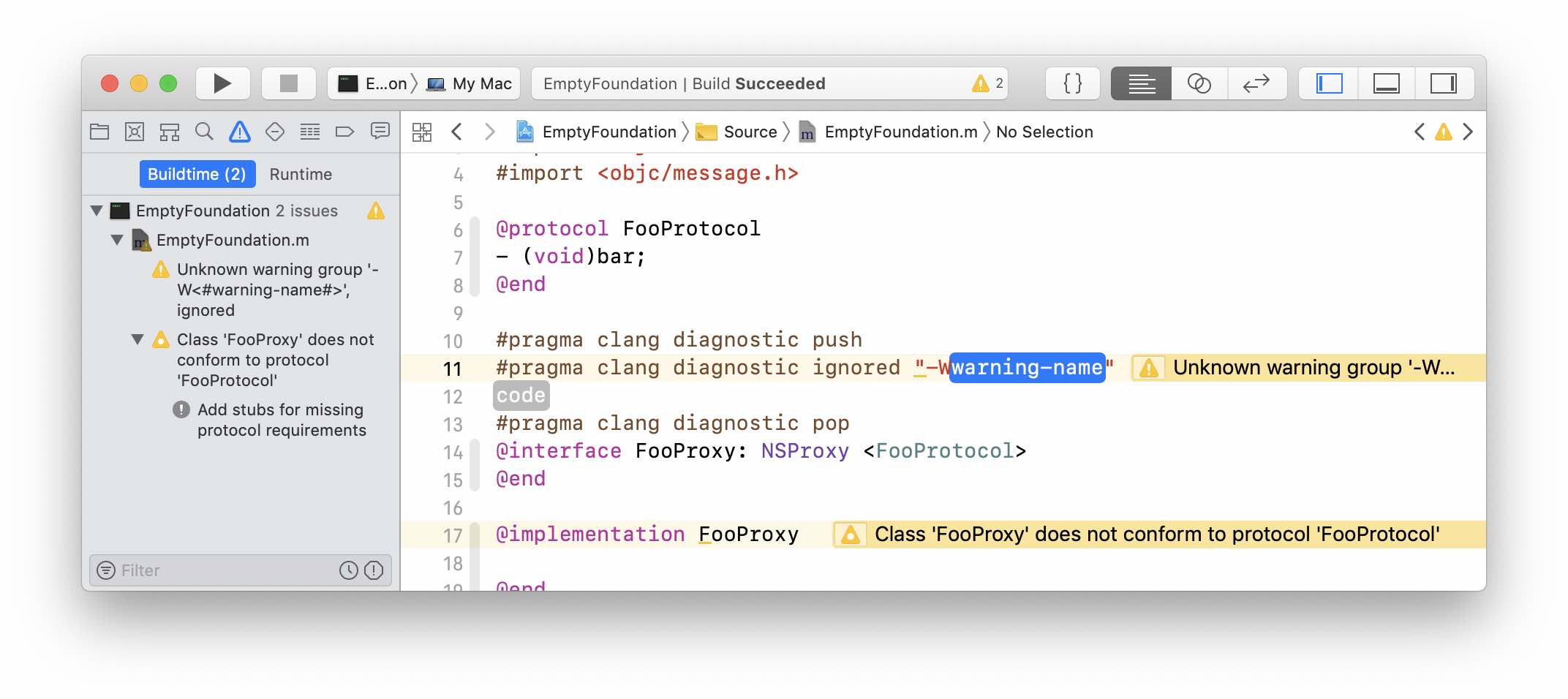 Expanded Xcode ignore snippet